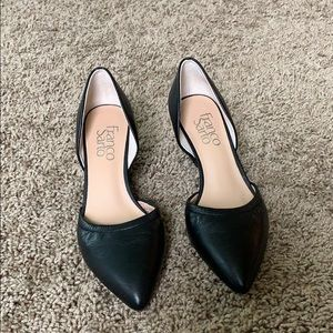 NEW Franco Sarto Fenway leather d'orsay wedges